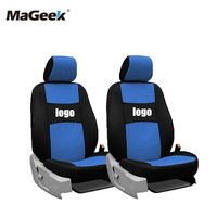 two front seats Univeraal car seat covers For Peugeot 307 206 308 407 207 406 408 301 3008 black/white/gray/red car accessories