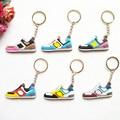 Mix 12pcs/lot DORAEMON New Balanceer 574 Key chain, Sneaker Keychain Kids Key Rings Key Holder for Woman and Girl Gifts
