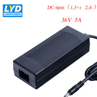 36V/5A Supply LED Power Adapter For Electrical Equipment Switching Adapter Black Switching For LED Strip IT Equipment
