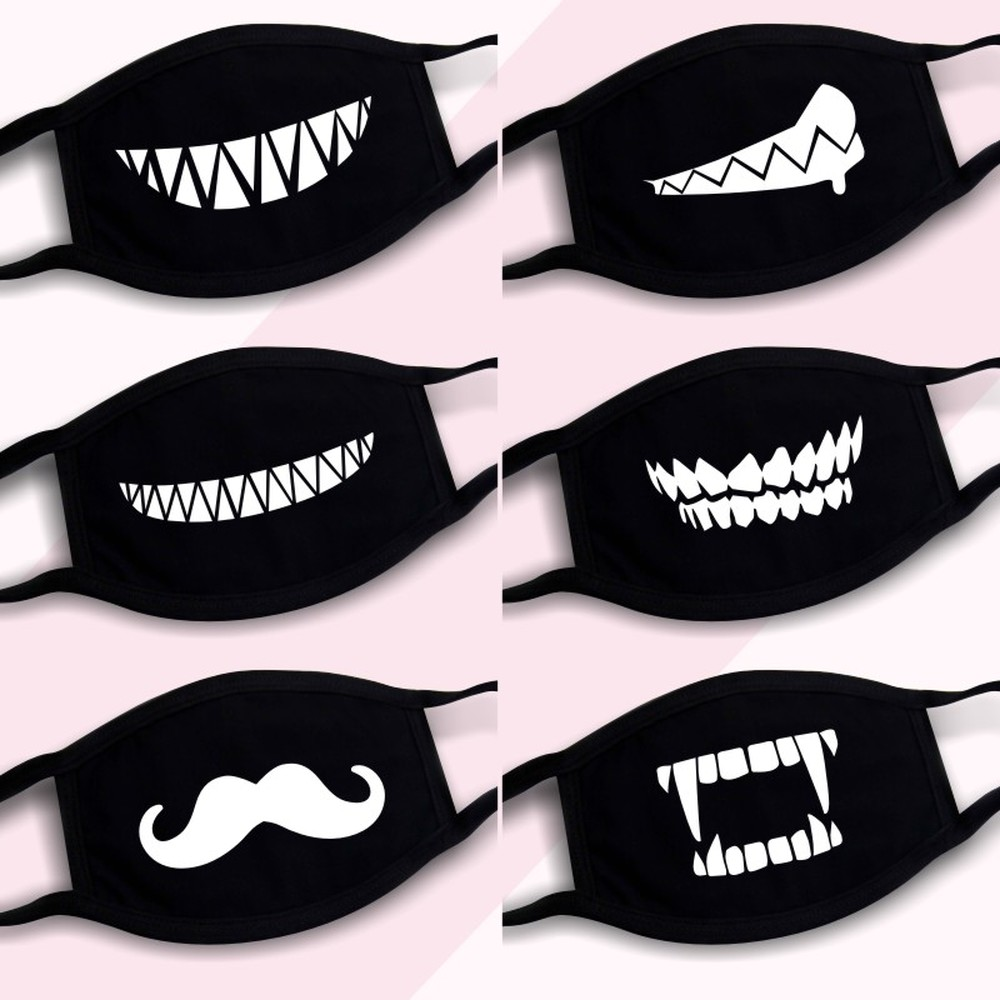 Fashion Mask Riding Sunscreen Autumn And Winter Cold Summer Thin Men And Women Cotton Breathable Cartoon Cute Mouth-muffle