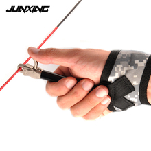 Canvas Camouflage Bow Release Adjustable Leather Wrist Strap Archery for Compound Hunting Accessory