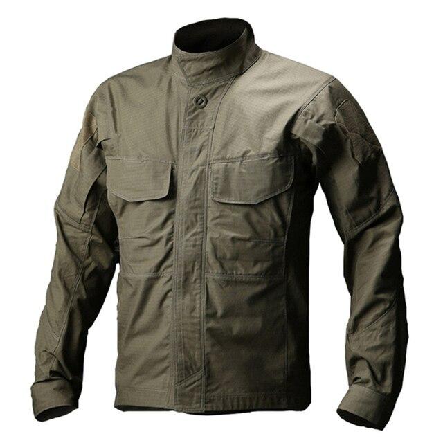 LOBO INIMIGO Homens Camisa Militar Camisa Tático Impermeável Ao Ar Livre Respirável Verão Caminhadas Pesca Camisa de Manga Longa