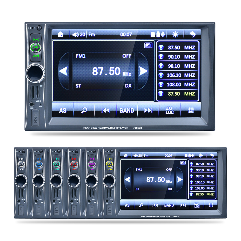 7 HD 2DIN Car Stereo MP3 MP5 Player GPS Nav Bluetooth Touch FM Radio USB/TF/AUX Car Video Player for bmw toyota honda jeep
