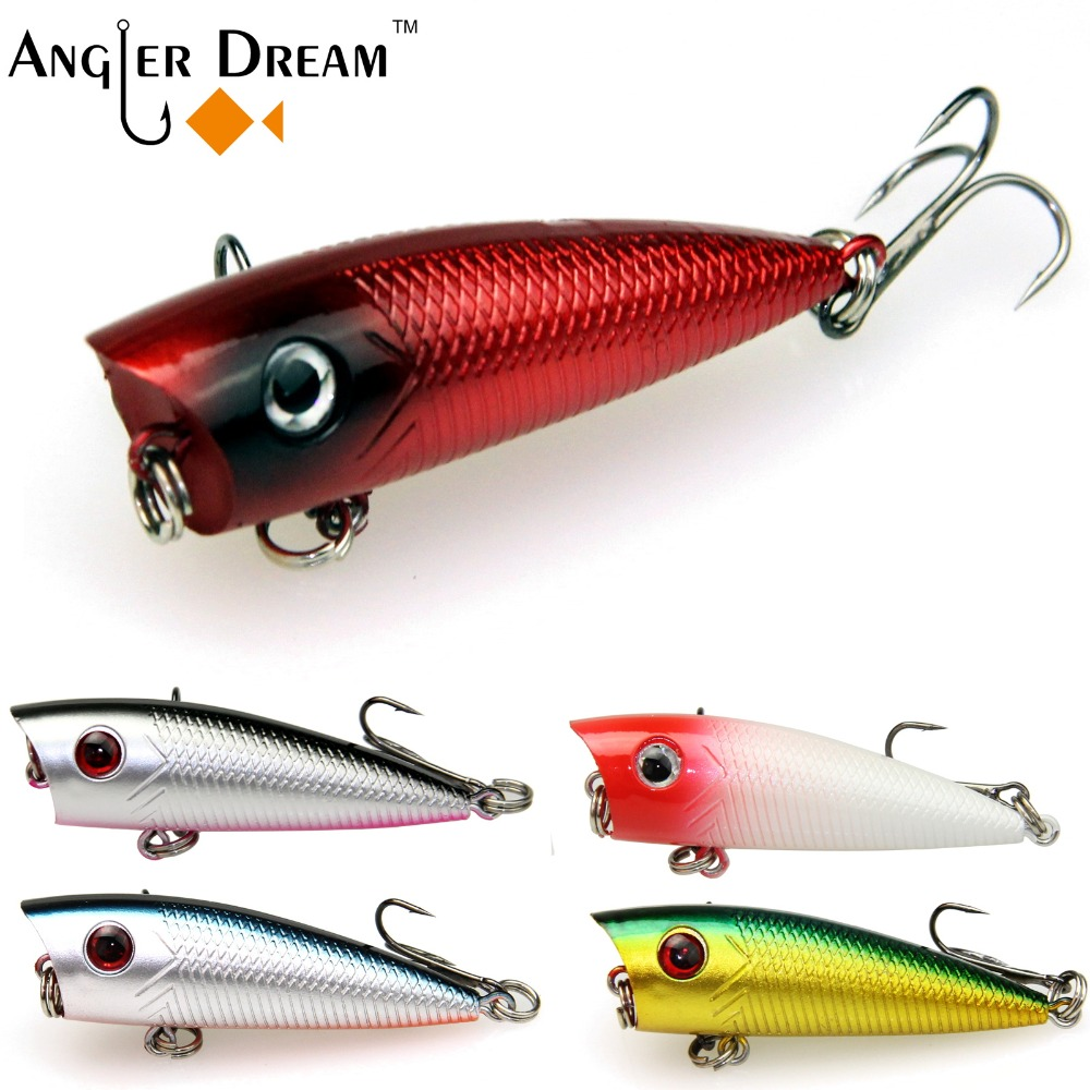 Hard baits popper fishing lure pike bass for Popper fishing lure