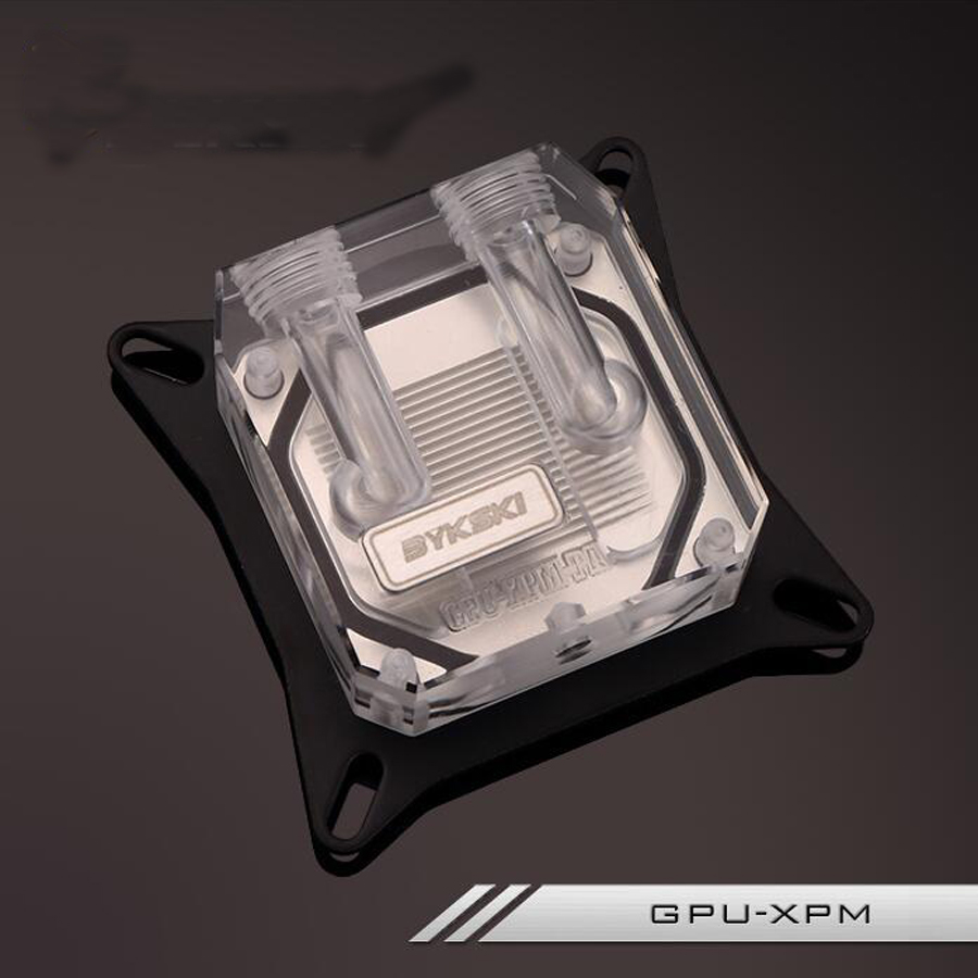Byksi GPU-XPM Transparent Platform Common Suit 53-61 mm Pitch GPU Water Cooling Block with 2pcs kuaining fitting common common like water for chocolate 2 lp