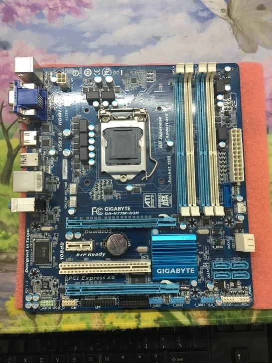 original font b motherboard b font for Gigabyte GA H77M D3H LGA 1155 DDR3 H77M D3H