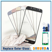 LCD Front Outer Screen Glass Lens For Samsung J330 J530 J730 J530F J5Pro J7pro J3 J5 J7 2017 Touch Screen Panel Replacement(China)