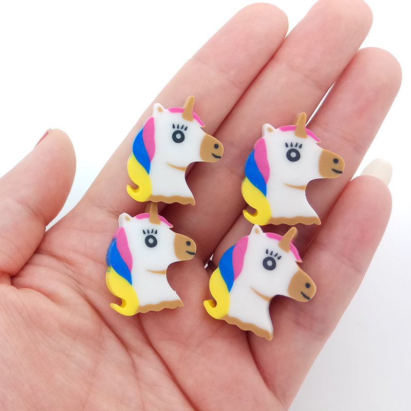 8 Pcs Eraser Cute Cartoon Unicorn Pencil Eraser Rubber Kawaii Stationery Student School Office Supplies Kids Prize Toys 1pcs new creative stationery supplies kawaii cartoon pencil erasers for office school kids prize writing drawing student gift