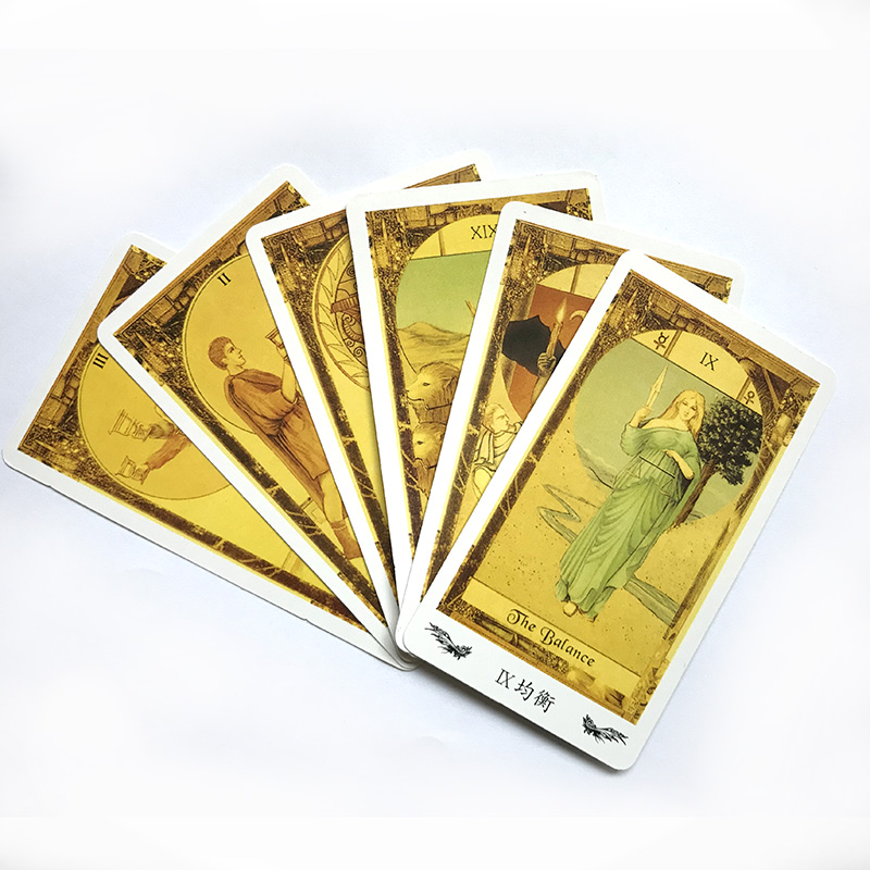 The Mysterious Tarot Board Game 78 PCS Cards Chinese/English Edition For Astrologer
