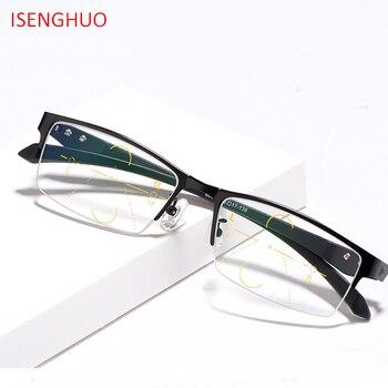 46108424d6 ISENGHUO mejorada gafas multifocales de lectura para hombre puntos para  lector cerca de la distancia diopter 1,0-3,0