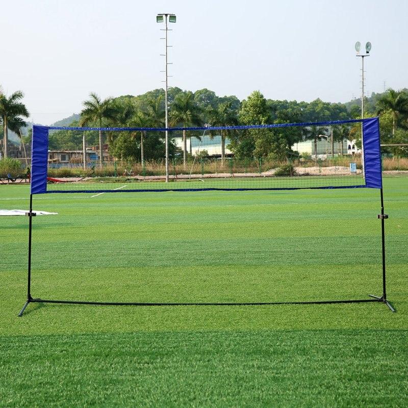 התחלה מהירה נייד חיצוני ספורט טניס בדמינטון חיצוני רשת פשוט מתלה טניס הדרכה כיכר כדורעף נטו רשת מדף כחול