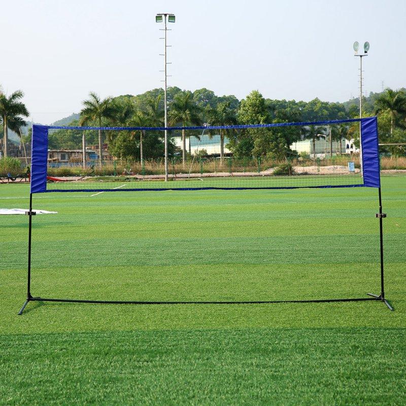 portable-outdoor-sports-quickstart-tennis-badminton-net-outdoor-simple-tennis-rack-volleyball-training-square-mesh-net-blue-rack