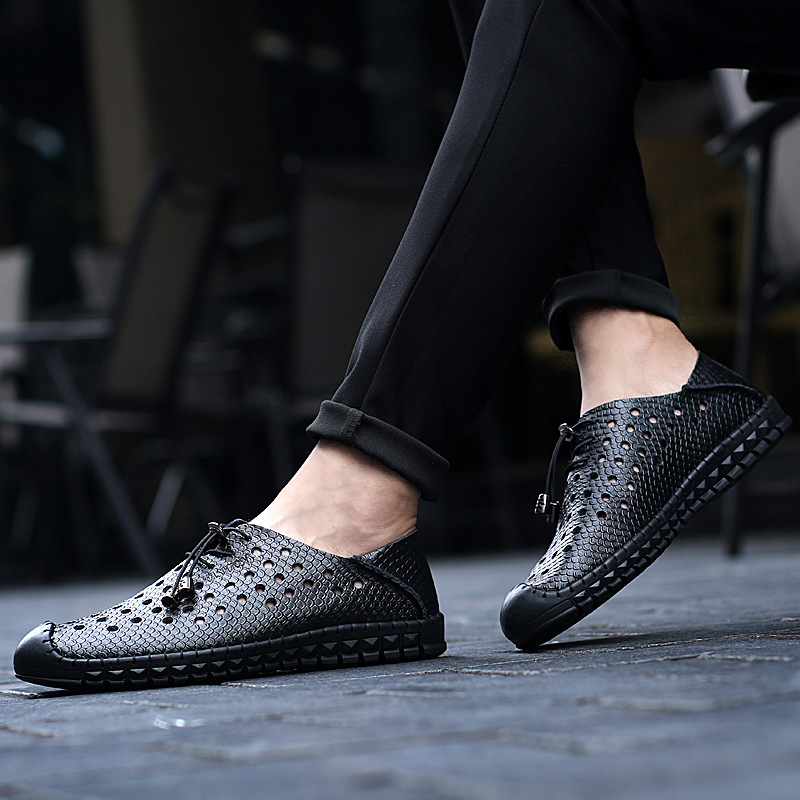 AKZ Man Casual shoes 2018 New Style Summer loafers Air mesh Bernapas - Sepatu Pria - Foto 6