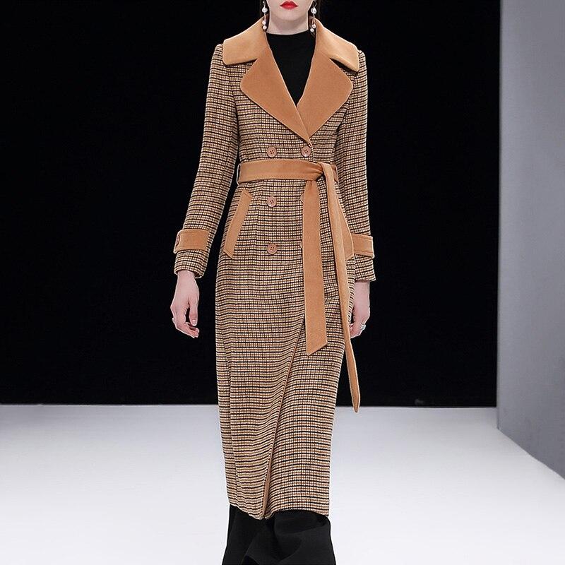 Wm179 Longue Outwear Boutonnage À Color Européen Picture jupe Double Style 2018 Plaid Color X Manteaux Cachemire Nouvelles picture Manteau De Veste Laine Femmes UqOwxqZ7T