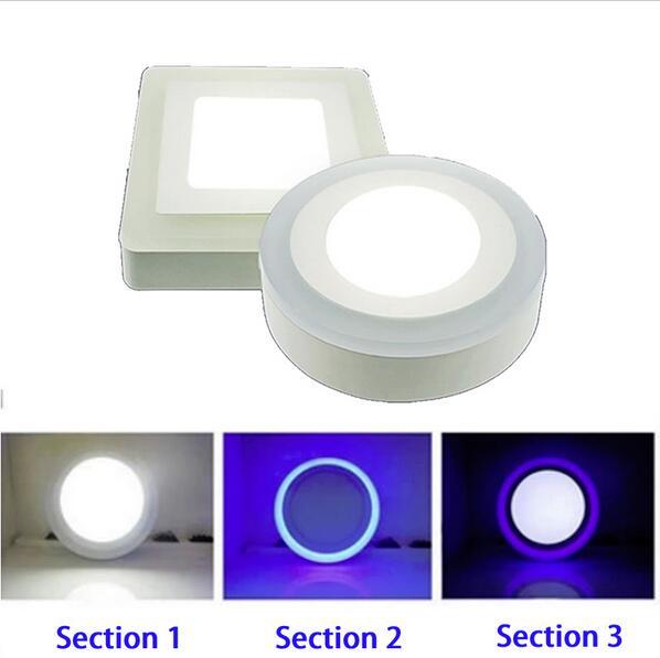 AC 110V 220V 6W 9W 18W 24W 3 Modelo Redondo Cuadrado Panel LED - Iluminación LED - foto 4