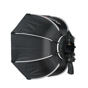 Image 4 - TRIOPO 55 см складной восьмиугольник софтбокс кронштейн держатель Мягкая коробка ручка для Canon Nikon Fuji Godox Yongnuo Вспышка светильник