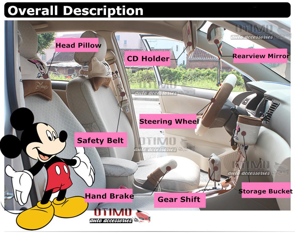 Cute Cartoon Car Steering Wheel Cover Mickey Mouse