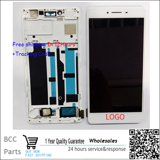 A++ quality For OPPO R7s LCD display+Touch screen Panel Digitizer with frame in stock!Tested ok!Free shipping