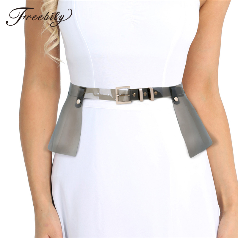 48714b28c Detail Feedback Questions about New Transparent Belts Women Plastic Ruffle  Skirt Corset Belt For Woman Wide Girdle Leather Skirt Strap Rainbow Peplum  ...