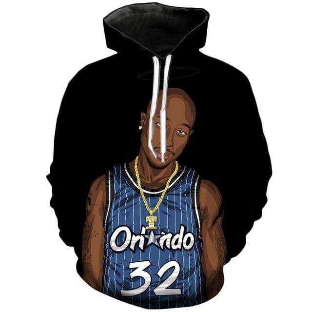55f6e2a21d1 YX GIRL Orlando Magic 32 Sketch Hoodie Hoody Outwear 3D Hoodies Autumn  Sportwear Hoody Tracksuits Tops