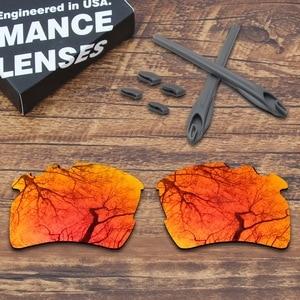 Image 4 - Toughasnails oakley flak 2.0 xl vented sunglasses 용 편광 렌즈 및 회색 고무 키트