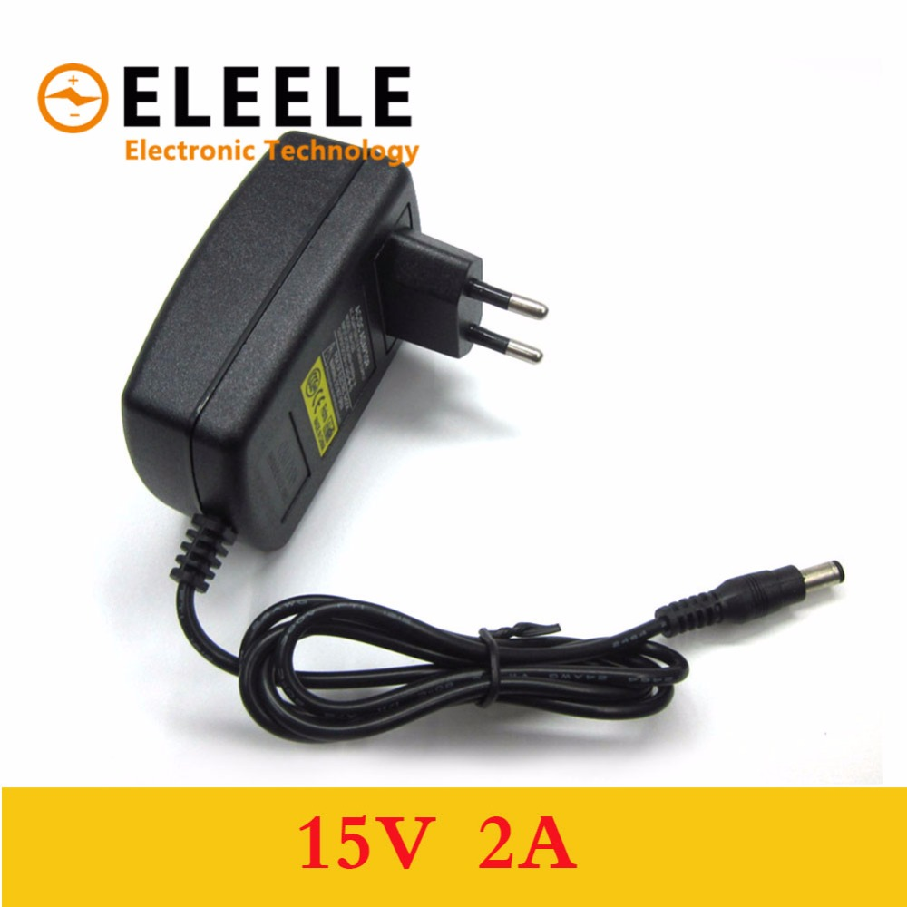 1pcs high quality 15V2A AC 100V-240V Converter <font><b>Adapter</b></font> DC <font><b>15V</b></font> 2A 2000mA Power Supply EU Plug 5.5mm x 2.1-2.5mm PN35 image
