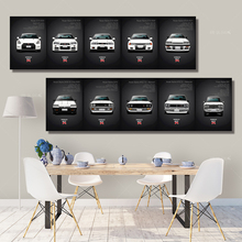 Wall Art Canvas Paintings Classic Retro Nissan Skyline GTR Car Pictures Bedside Home Decorative Posters HD Print Artwork Mural