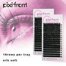 16Rows All Size volume False Mink Eyelashes, Silk soft Lashes Extension Premium 3D Individual Lashes smashbox all lashes set