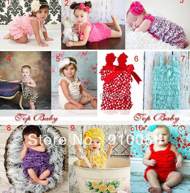 6 pce Toddler Baby Girl Lace Posh Petti Ruffle Rompers Dress Infant Children One-Piece Tutu Lace Rompers Kids Clothes
