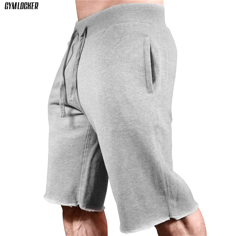 new Summer high quality men's   shorts   gyms slim fit Bodybuilding fashion Joggers sweatpants men Fitness   short   pants Sportswear