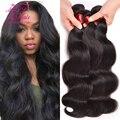 8A Visón Brasileño Virgin Hair Body Wave 3 Bundles Armadura Brasileña Del Pelo Bundles, Paquetes de Pelo Brasileño Onda del Cuerpo Humano