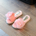 2017 Newest Summer Baby Girl Slipper Appliques Pearl Decor Kid Sandal Children Princess Style High Quality Sweet Shoes