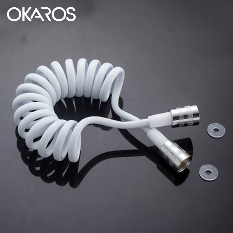 OKAROS Bathroom Faucet Replacement Parts Brass Shower Hose 1.5- 1.8 M  Shower Hose for Hand Bidet Wall Plumbing Hoses