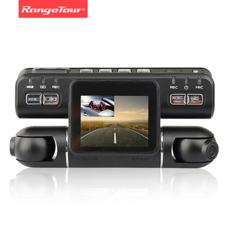 Range Tour Dashcam Dual Lens Car DVR Camera Video Recorder I4000 Full HD 1080P 320 Degree