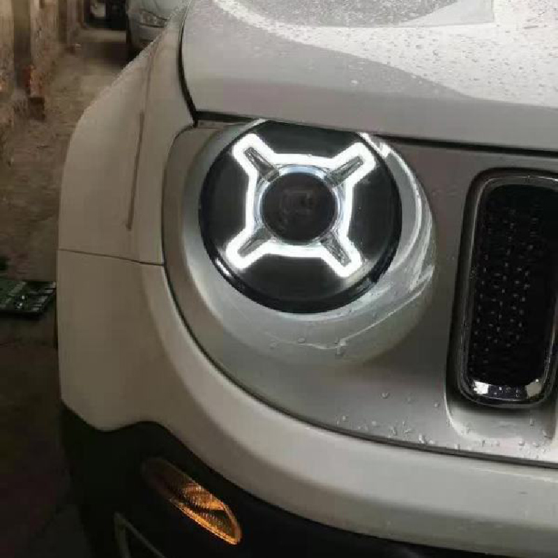 Sonar Brand For Jeep Renegade Black Led Projector Lens Car Headlights Embly 2017 Year Up Bi Xenon Styling Tuning Lamps In Light From