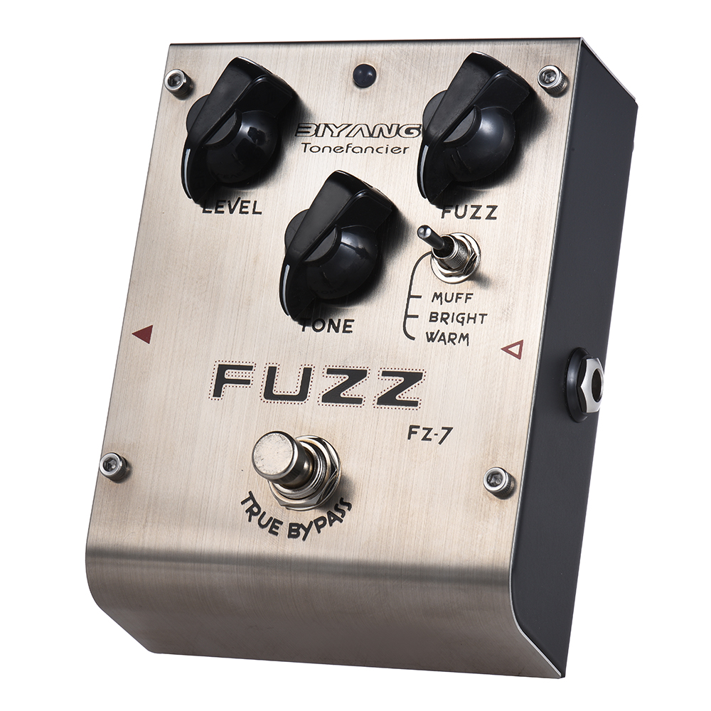 BIYANG FZ 7 Guitar Effect Pedal Tonefacier Series 3 Modes Fuzz True Bypass Full Metal Shell
