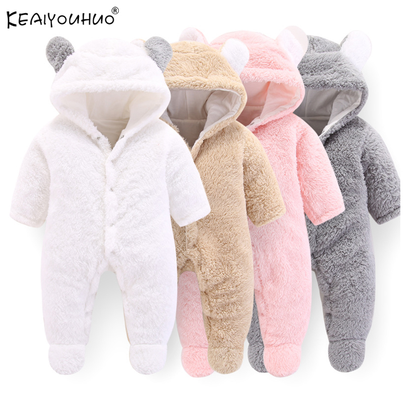 2020 New Autumn Winter Overall Baby Girl Clothes Infant Jumpsuits Toddler Boys Clothes Newborn Romper For Baby Jackets Kids Coat