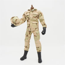 "1/6 Scale Uniforms Accessories Female Clothes desert Camo Soldier set For 12"" Male Military Action Figure Body(China)"