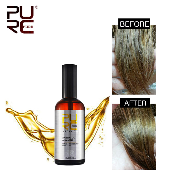 PURC Moroccan Argan Oil 100ml for Repairs Damage Hair  Moisturizing Hair nourishing for after Keratin Treatment Hair OilPURC Moroccan Argan Oil 100ml for Repairs Damage Hair  Moisturizing Hair nourishing for after Keratin Treatment Hair Oil