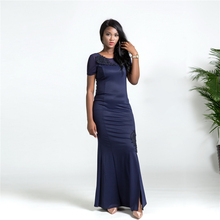 hot deal buy 2018 new arrival african style women's long skirt chest embroidered slim short-sleeved fashion sexy dress plus size l-xxl