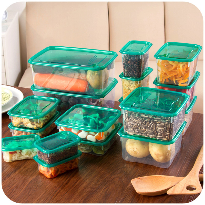 17 Pcs Multi functional Refrigerator Vegetable Food Preservation