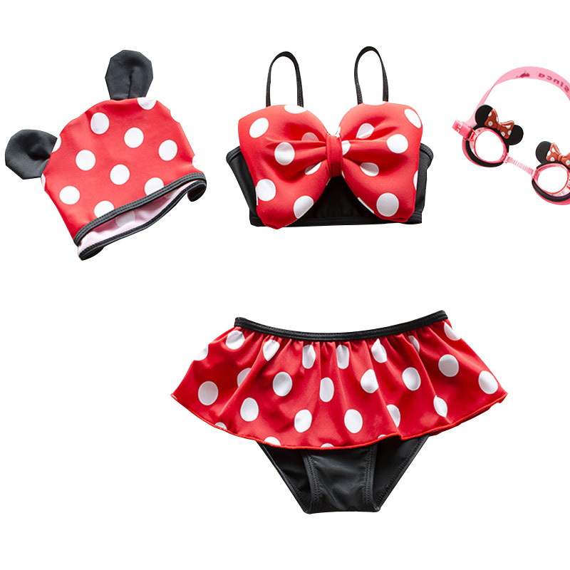 2018 Children Swimwear New Fashion Baby Girl Cartoon Cute Bikini Girls Split Two Pieces Swimsuit Bathing Suit Beachwear Swimsuit retail cute girls swimwear ariel one pieces swimsuit kids ruffled swimming suit for girl children bathing suit with cap