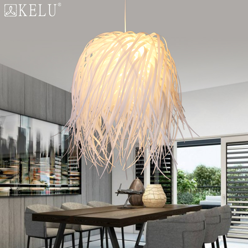 The Nordic minimalist modern dining room bedroom lamp lamp American country clothing art pendant PP nordic minimalist clothing store pendant