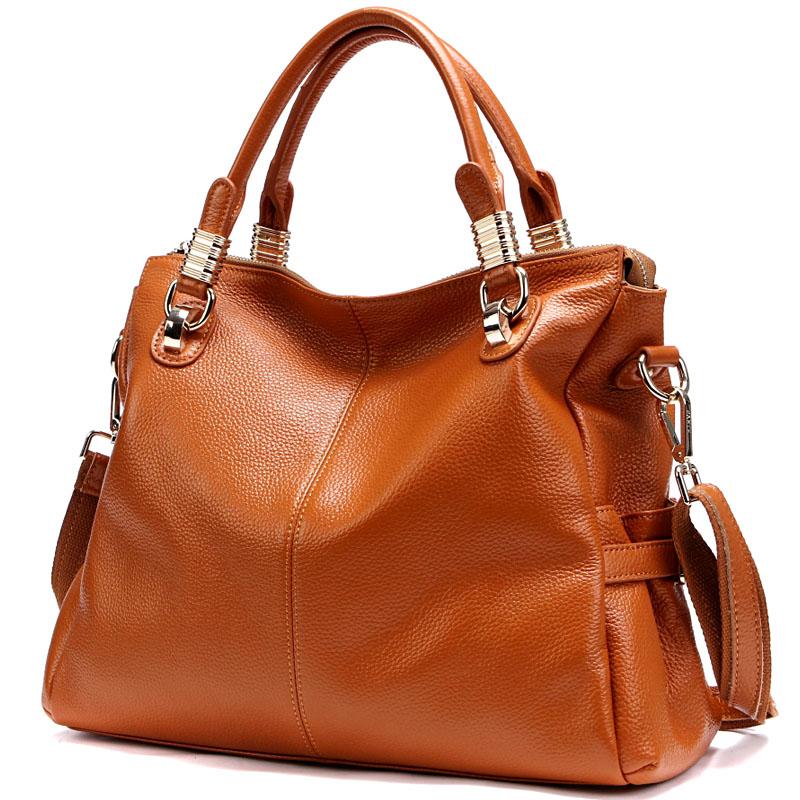Winter Large Capacity Women\'S Tote Bag Genuine Leather Ladies Handbag Luxury Famous Brand Designer Female Shoulder Bag