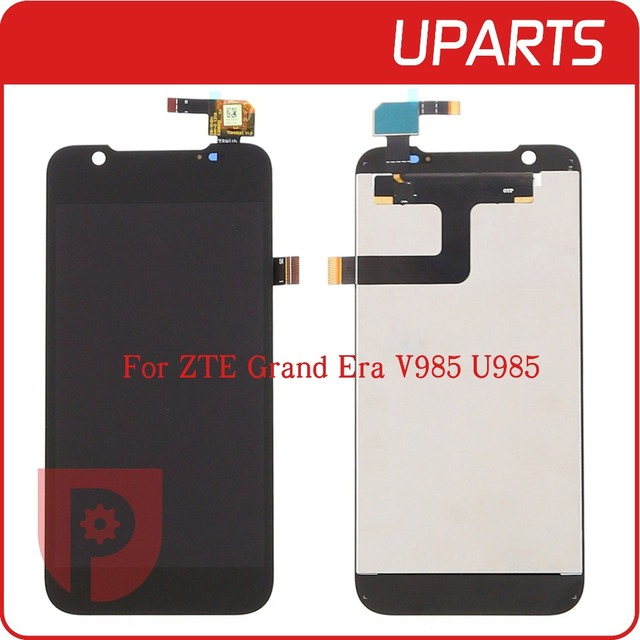 High Quality For ZTE Grand Era V985 U985 LCD Display Touch Screen Glass Digitizer Assembly Replacement Free Shipping