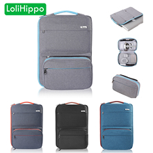 LoliHippo 2in1 Laptop Liner Sleeve Bag Inner Case for Apple Macbook Air Pro 13.3 15.4 Inch Portable Package Accessories Bag Set