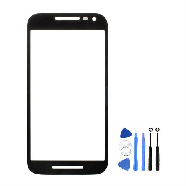 Vannego Free Shipping For Motorola Moto G3 G 3rd Gen XT1540 XT1541 Front Touch Screen Outer Glass Lens with Tools
