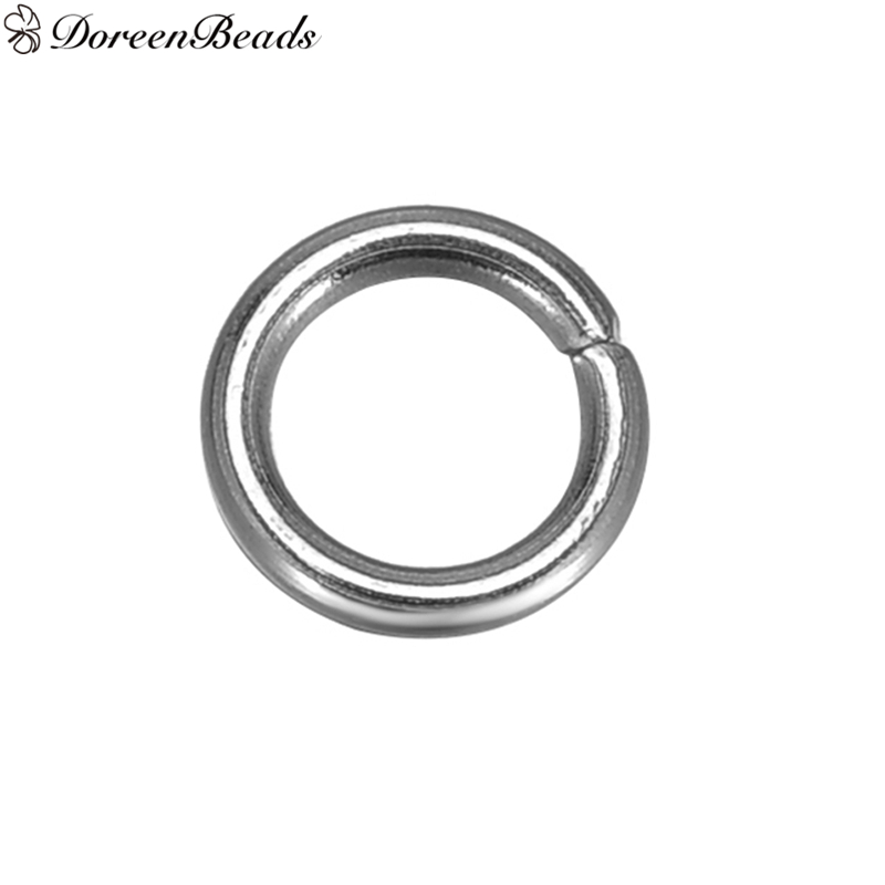 DoreenBeads 500 Stainless Steel Open Jump Rings 5mm Dia. Findings (B10269)