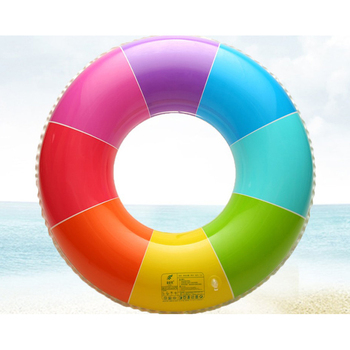 New Rainbow Inflatable Swimming Ring Swim Float Summer Beach Water Fun Pool Toys For Adults Children Kids 1