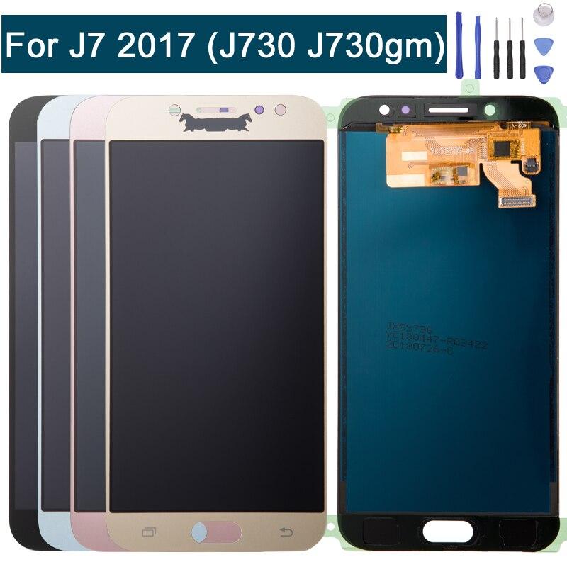 ЖК-дисплей Экран дисплея Замена для samsung Galaxy J7 Pro 2017 J730G J730GM Touch планшета + Ремонт Инструменты синий и золотой & черный